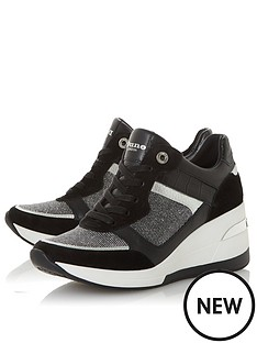 dune-london-easton-wedge-lace-up-trainers-black
