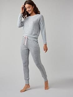 boux-avenue-nia-ribbed-lounge-top-grey-marl-mix
