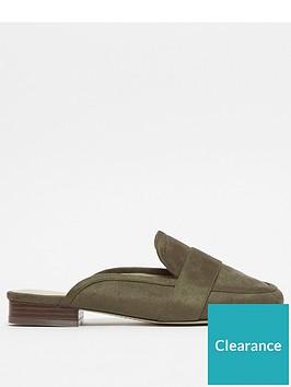 evans-extra-wide-fit-mules-khaki