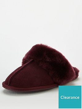 v-by-very-whistle-real-suede-sheepskin-slippers-burgundy