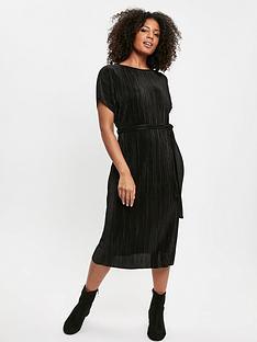evans-plisse-dress-black