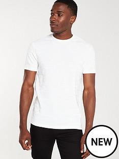 river-island-ecru-camo-slim-fit-textured-t-shirt