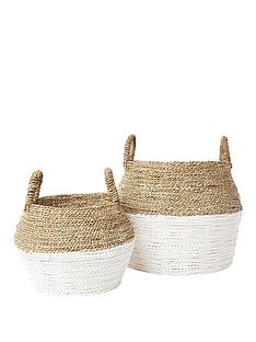 river-island-set-of-2-beige-handwoven-seagrass-baskets