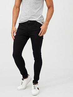 river-island-black-ollie-spray-on-skinny-jeans