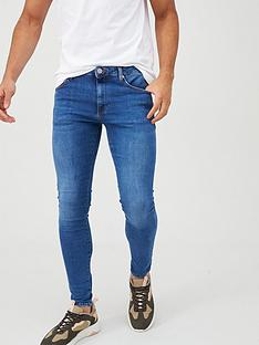 river-island-mid-blue-ollie-spray-on-skinny-jeans