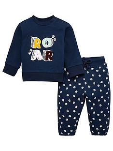 v-by-very-baby-boy-roar-jog-set-navy