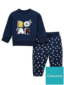 v-by-very-baby-boy-roar-jog-set-navy