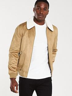 river-island-beige-faux-suede-borg-collar-jacket