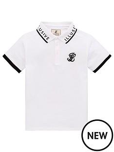 illusive-london-boys-short-sleeve-polo-shirt-white