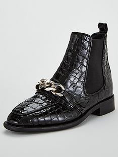 office-arcade-chain-boot-black-patent