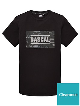 rascal-boys-box-logo-house-camo-short-sleeve-t-shirt-black