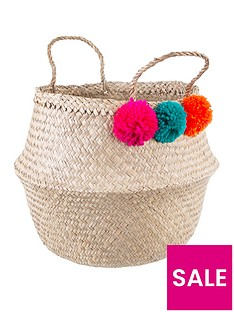 sass-belle-summer-pom-pom-storage-basket