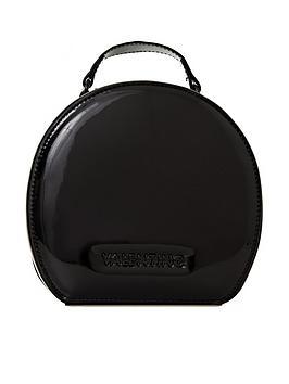 valentino-by-mario-valentino-tamburo-patent-circle-bag-black