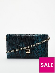 v-by-very-chain-strap-clutch-green