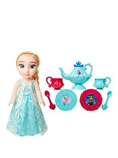disney-frozen-disney-frozen-toddler-doll-elsa-tea-set-gift-set