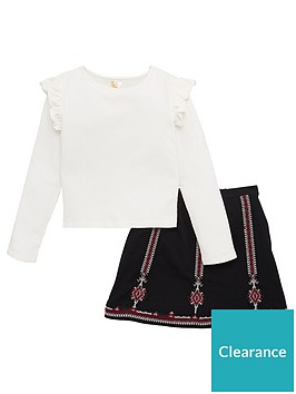 v-by-very-girls-embroidered-skirt-and-top-set-cream