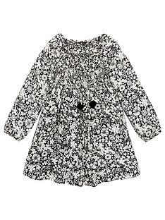 v-by-very-girls-shirred-square-neck-smock-dress-black