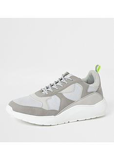 river-island-grey-chunky-sole-runner-trainers