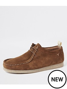 river-island-brown-leather-lace-up-shoes