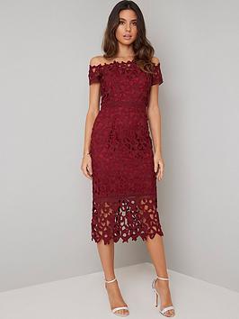 chi-chi-london-anna-lace-bardot-midi-dress-burgundy