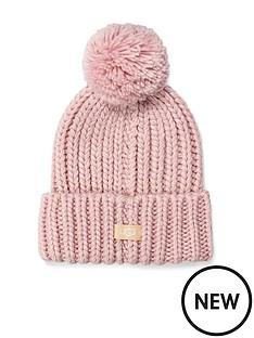 ugg-chunky-wide-cuff-beanie-hat-pink