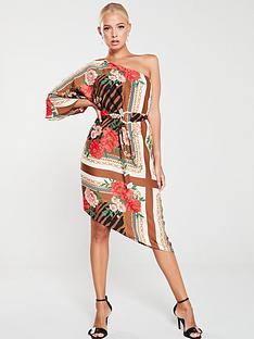 river-island-river-island-one-shoulder-kimono-sleeve-midi-dress-brown