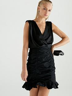 river-island-river-island-taffeta-bodycon-dress-black