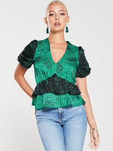 river-island-frilly-layered-top--green