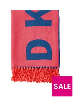 dkny-woven-engineered-throw-coralroyal-blue