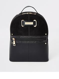 river-island-zip-front-backpack-black