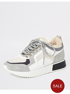 river-island-river-island-faux-fur-lace-up-trainer-grey