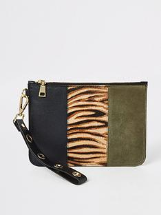 river-island-river-island-leather-tiger-print-pouch-beige
