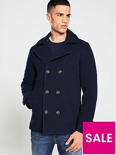selected-homme-matt-peacoat-jacket-navy