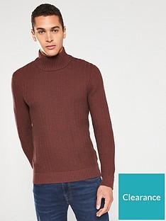 selected-homme-rolf-structured-high-neck-jumper-brownred