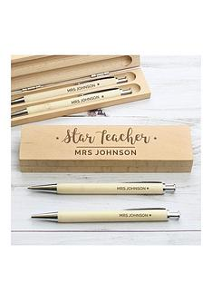 personalised-star-teacher-pen-and-pencil-box-set