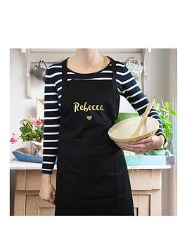 personalised-metalic-gold-name-black-apron