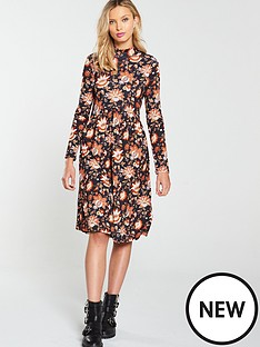 v-by-very-paisley-high-neck-swing-dress-multi