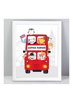 personalised-london-bus-framed-print