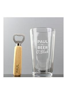 personalised-beer-oclock-glass-and-bottle-opener