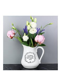 personalised-floral-wreath-ceramic-jug-vase