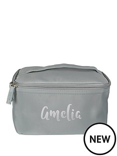 personalsied-metallic-silver-name-travel-wash-bag