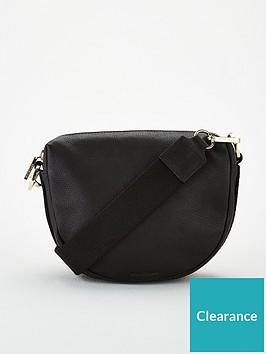 whistles-earl-leather-webbing-strap-satchel-black