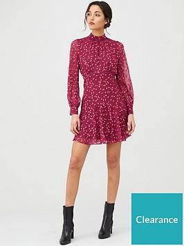 whistles-falling-leaves-mini-dress-burgundy