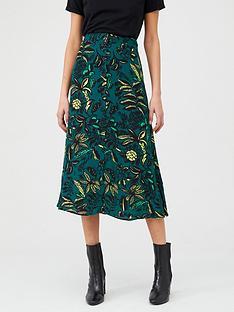whistles-assorted-leaves-print-skirt-green-multi