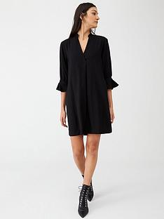 whistles-sonia-frill-sleeve-dress-black