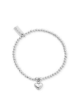 chlobo-sterling-silver-cute-charm-puffed-heart-bracelet