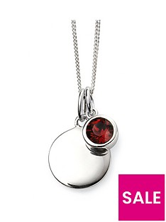 the-love-silver-collection-swarovski-birthstone-silver-engravable-pendant-necklace