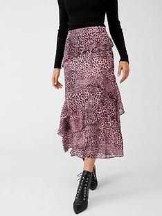 whistles-wild-cat-print-skirt-pink-multi