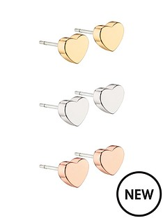 fiorelli-jewellery-fiorelli-3-pack-heart-stud-earrings