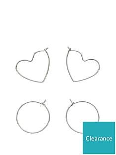 fiorelli-jewellery-fiorelli-silver-plated-pack-of-2-hoop-earrings